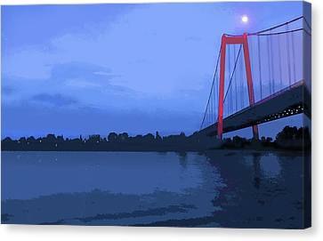 Past The Bridge Canvas Print
