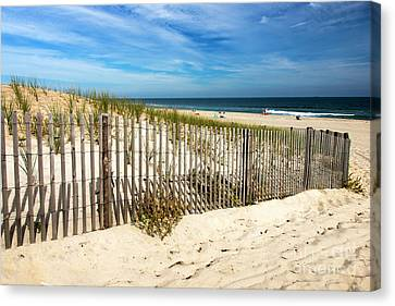 Canvas Print featuring the photograph Past The Dune Fence by John Rizzuto