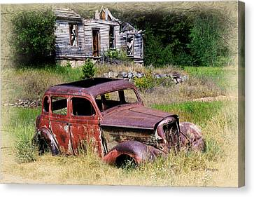 Old House Canvas Print - Past Their Prime by Kae Cheatham