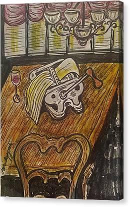 Pasta Time Canvas Print by Geraldine Myszenski