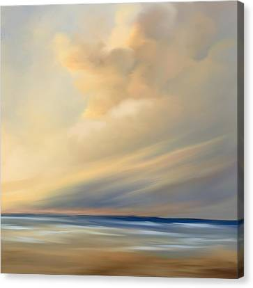 Pastel Beach Cloud Canvas Print by Anthony Fishburne