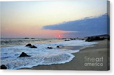 Canvas Print featuring the photograph Pastel Blue by Victor K