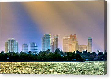 Pastel City Canvas Print by William Wetmore