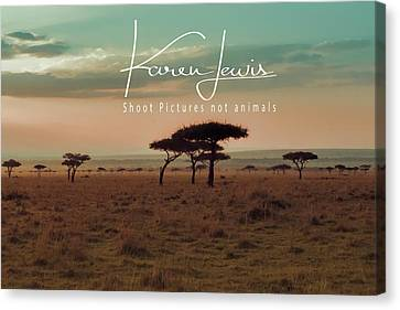 Canvas Print featuring the photograph Pastel Dawn On The Mara by Karen Lewis