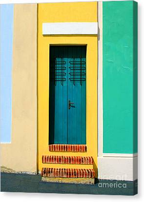 Pastel Doorway Canvas Print by Perry Webster