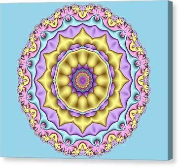 Pastel Fractal Mandala 01 Canvas Print by Ruth Moratz
