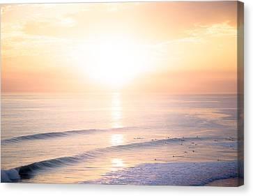 Pastel Horizon Canvas Print by Collin O'Rourke