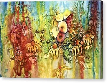 Pastel Jungle Canvas Print by Shirley Sykes Bracken