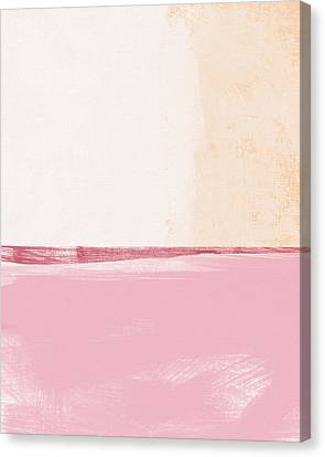 Colorful Abstracts Canvas Print - Pastel Landscape by Linda Woods