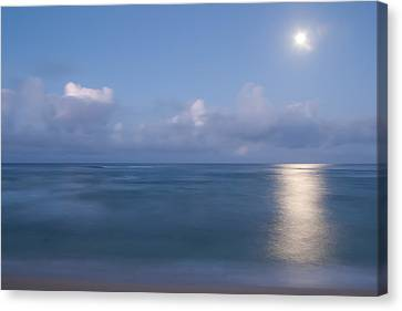 Pastel Moonset Canvas Print by Roger Mullenhour