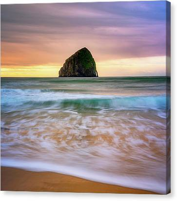 Canvas Print featuring the photograph Pastel Morning At Kiwanda by Darren White