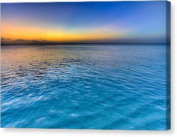 Turks And Caicos Islands Canvas Print - Pastel Ocean by Chad Dutson