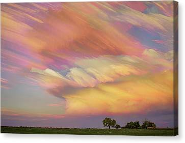 Canvas Print featuring the photograph Pastel Painted Big Country Sky by James BO Insogna