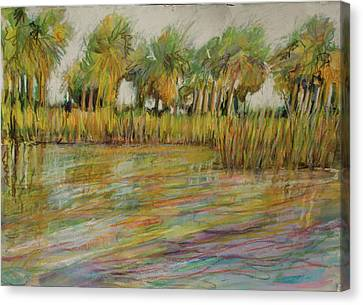 Pastel Palms Canvas Print by Michele Hollister - for Nancy Asbell
