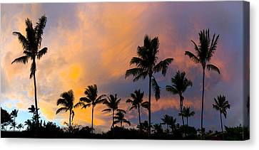 Pastel Palms Canvas Print