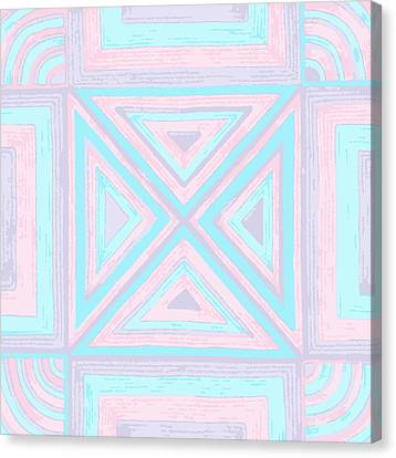 Canvas Print featuring the drawing Pastel Patchwork by Jill Lenzmeier