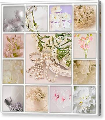 Pastel Photo Collage  Canvas Print by Sandra Foster