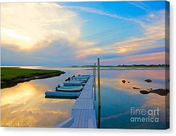 Pastel Reflections On Cape Cod Canvas Print