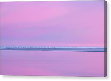 Pastel Shades Of An Icelandic  Winter Sunset. Canvas Print by Andy Astbury