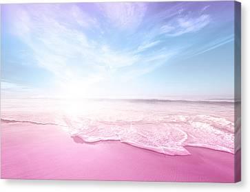 Pastel Summer Beach Vacation Canvas Print