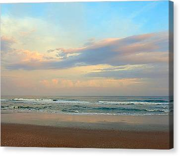 Pastel Sunrise Canvas Print by Betty Buller Whitehead