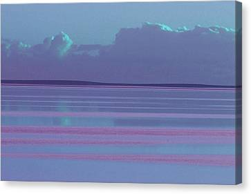 Pastel Sunset Sea Lilac Canvas Print