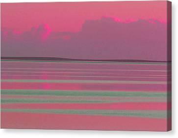 Pastel Sunset Sea Pink Canvas Print