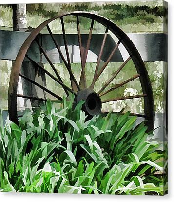 Pastel Wagon Wheel Canvas Print