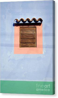 Canvas Print featuring the photograph Pastel Wall Gran Roque Venezuela by John  Mitchell