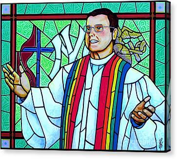 Pastor Charlie Canvas Print by Jim Harris
