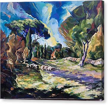 Pastoral Canvas Print by Alexander Donskoi