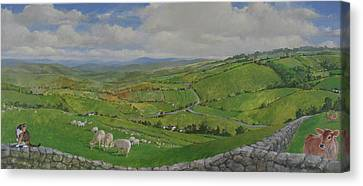 Canvas Print featuring the painting Pastoral  by Cliff Spohn