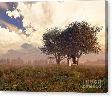 Pastoral Canvas Print by Diana Voyajolu
