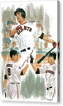 Pat Burrell Study 2 Canvas Print by George  Brooks