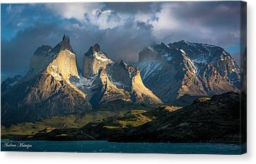 Patagonian Sunrise Canvas Print by Andrew Matwijec