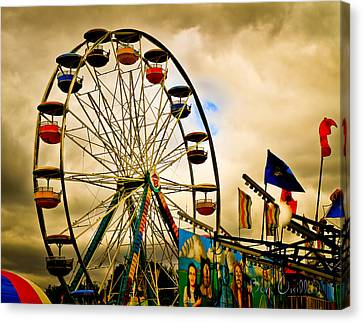 Canvas Print featuring the photograph Patch Of Blue by Bob Orsillo