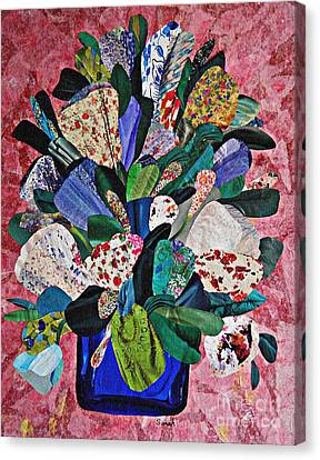Patchwork Bouquet Canvas Print