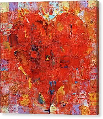 Patchwork Heart Canvas Print by Michael Creese