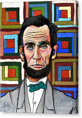 Patchwork Lincoln Canvas Print