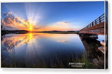 Patcong Rays Canvas Print by John Loreaux