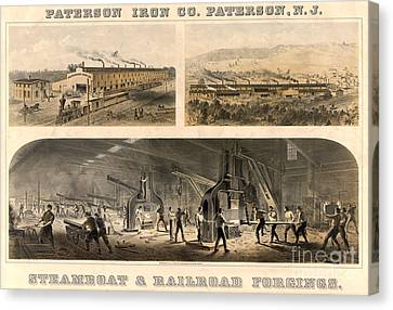 Paterson Iron Company Canvas Print by Granger