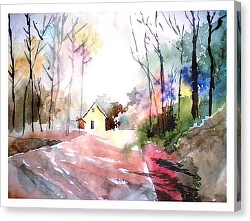 Path In Colors Canvas Print by Anil Nene