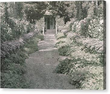Path In Monet's Garden At Giverny Canvas Print by French School