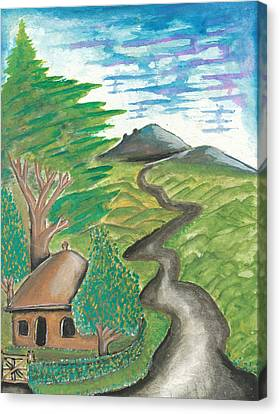 Path Into The Hills Canvas Print by Ken Nganga