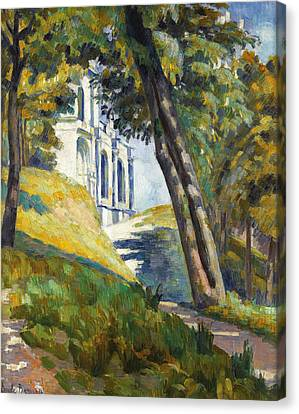 Path Leading To The Church Of Saint-pierre At Tonnerre Canvas Print