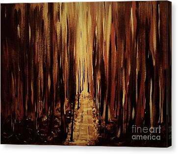 Path Of Gold Canvas Print