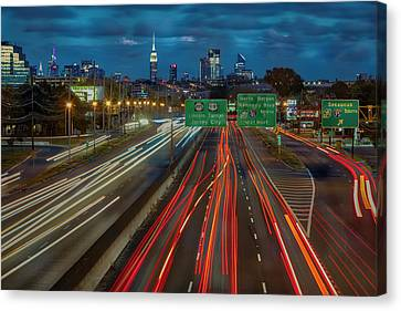 Canvas Print featuring the photograph Path To And From Nyc by Susan Candelario