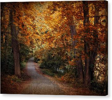 Path To Autumn  Canvas Print by Jessica Jenney