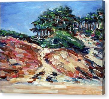 Path To Baker Beach Canvas Print by Sheila Tajima