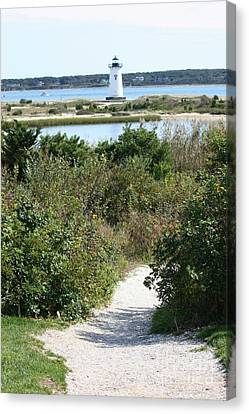 Path To Edgartown Lighthouse Canvas Print by Carol Groenen